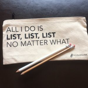 Handbags - All I Do is List Pouch
